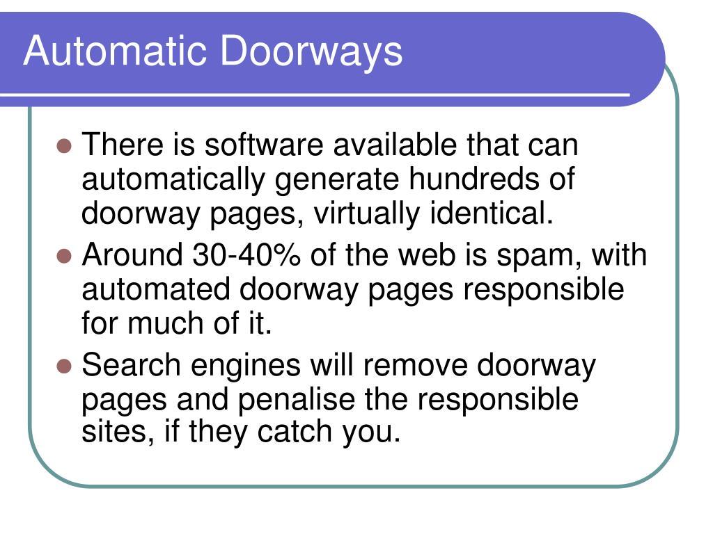 Automatic Doorways