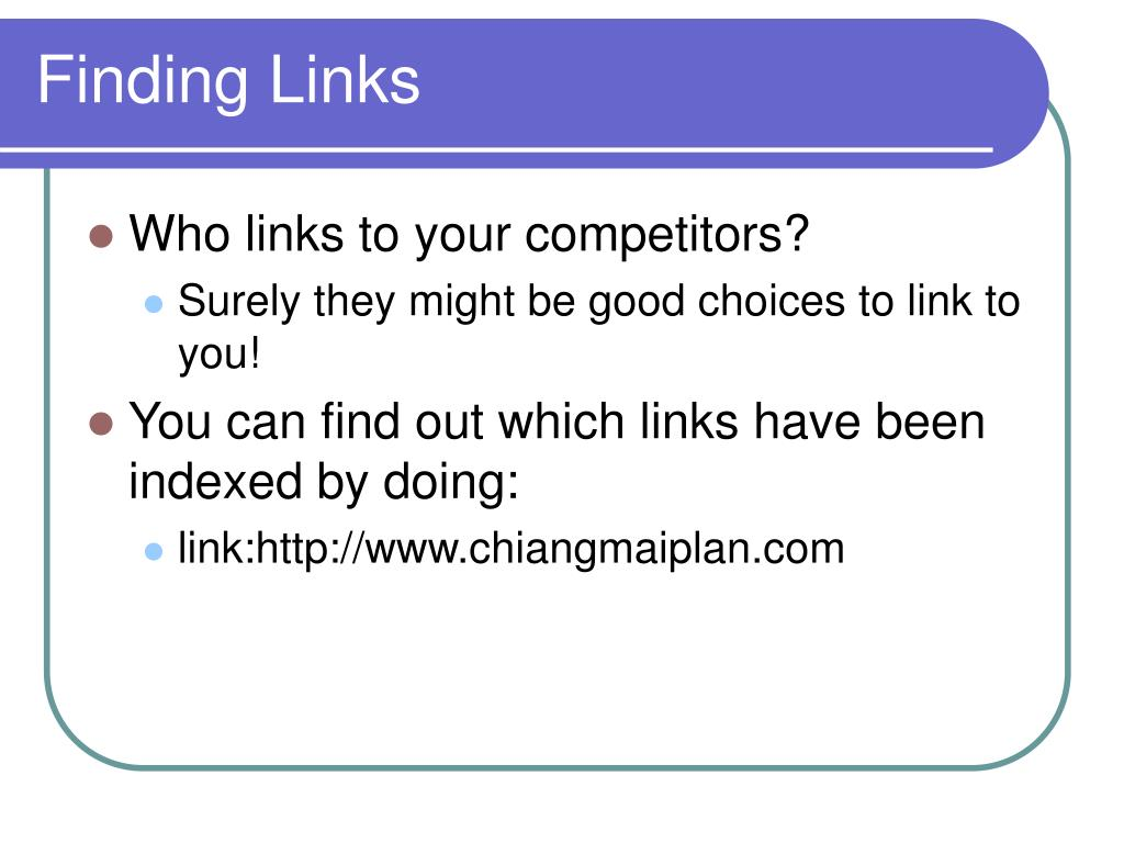 Finding Links