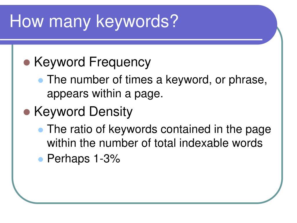 How many keywords?