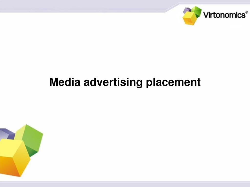 Media advertising placement
