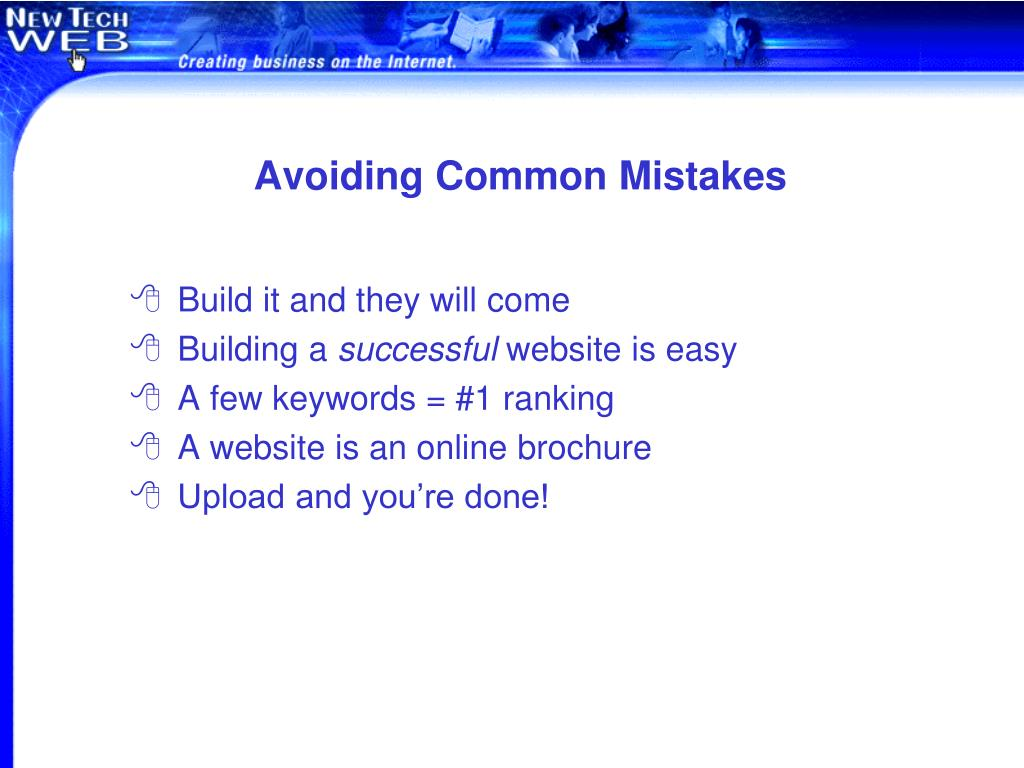 Avoiding Common Mistakes
