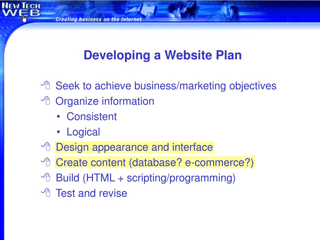 Developing a Website Plan