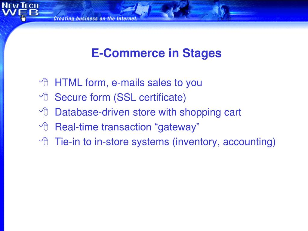 E-Commerce in Stages