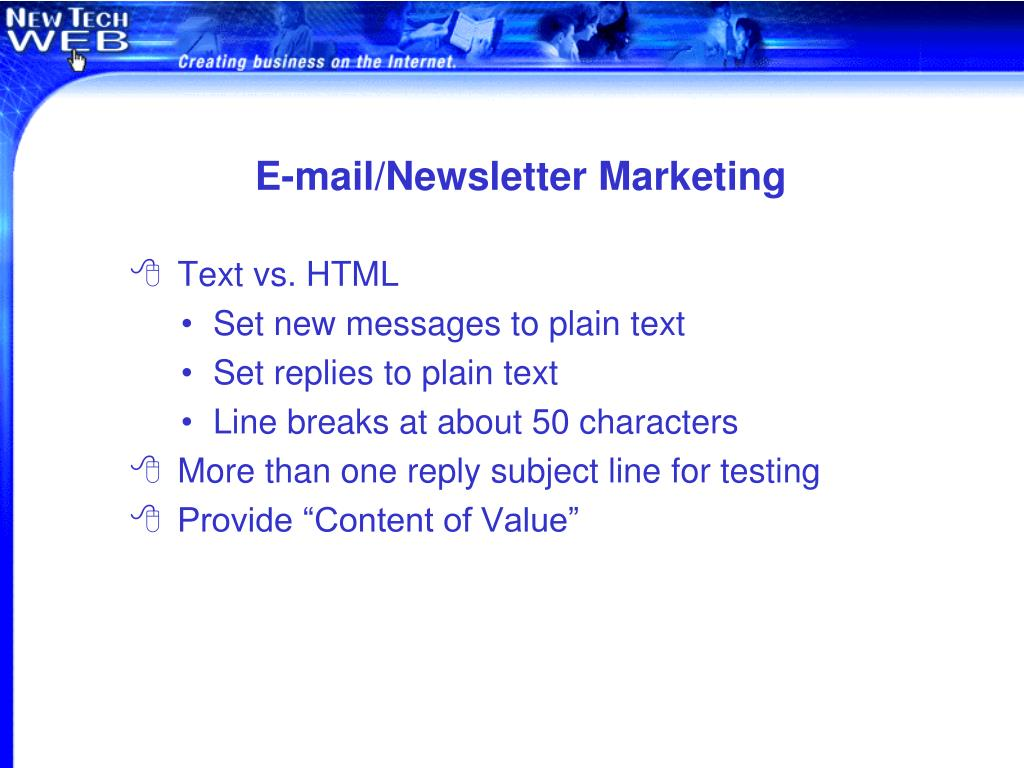 E-mail/Newsletter Marketing