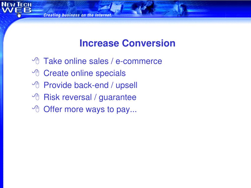 Increase Conversion