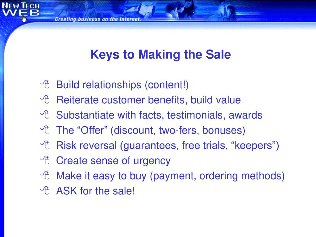 Keys to Making the Sale