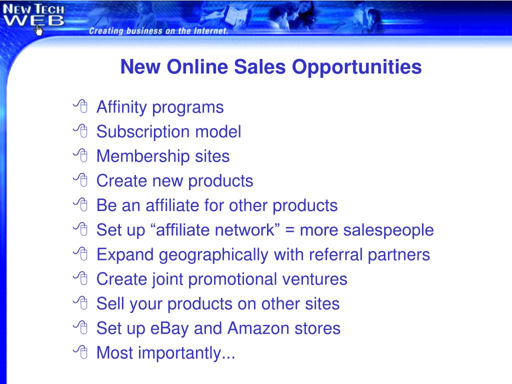 New Online Sales Opportunities
