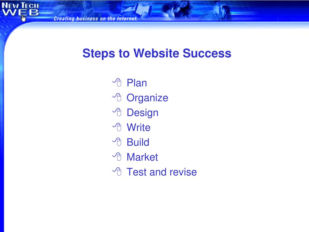 Steps to Website Success