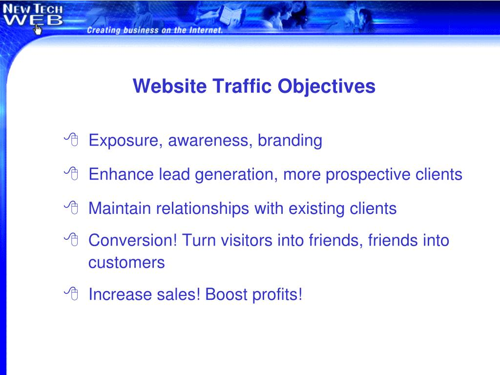Website Traffic Objectives