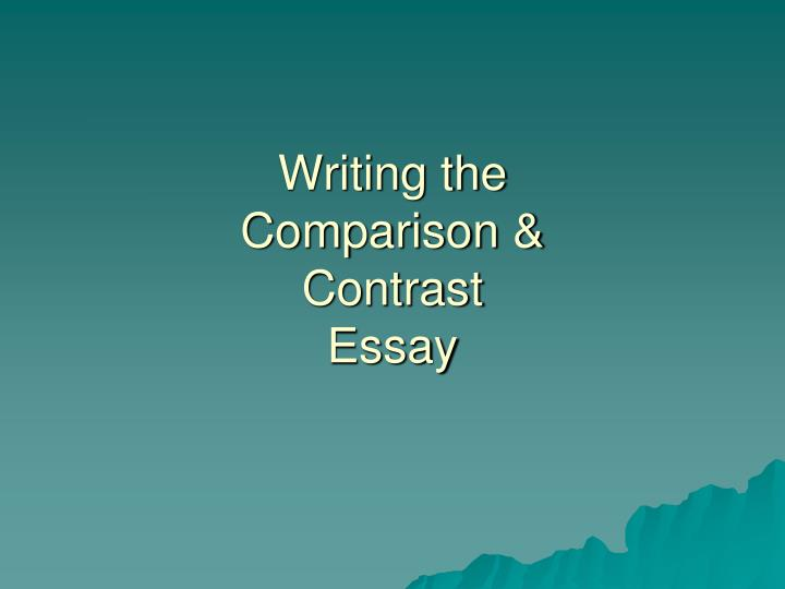 comparing and contrasting the presentation essay Presentation description before you begin taking a look at compare and contrast essay topics, you will need to consider what sort of audience will probably be.