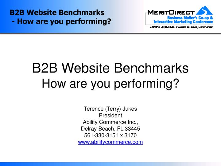 B2b website benchmarks how are you performing
