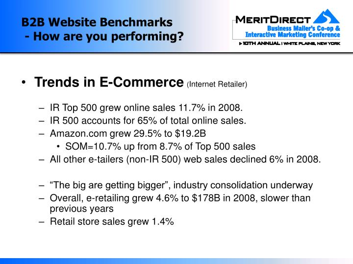 B2b website benchmarks how are you performing2