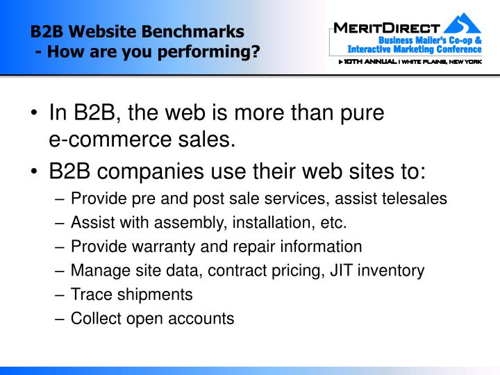 B2b website benchmarks how are you performing3
