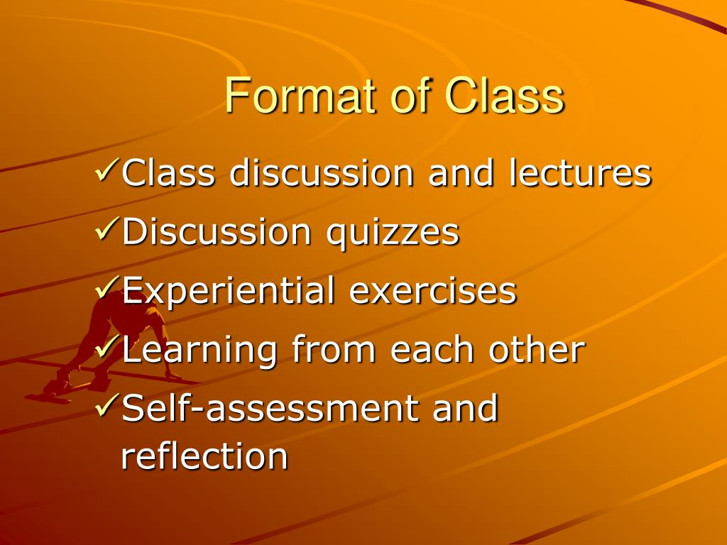 Format of Class