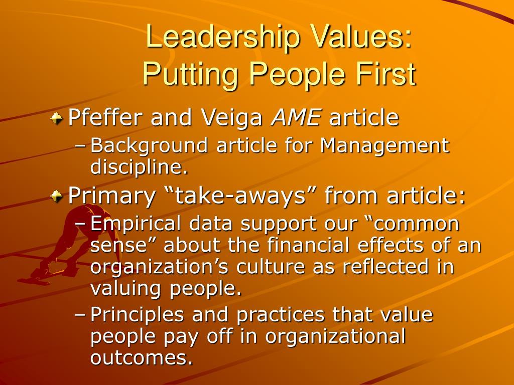 Leadership Values: