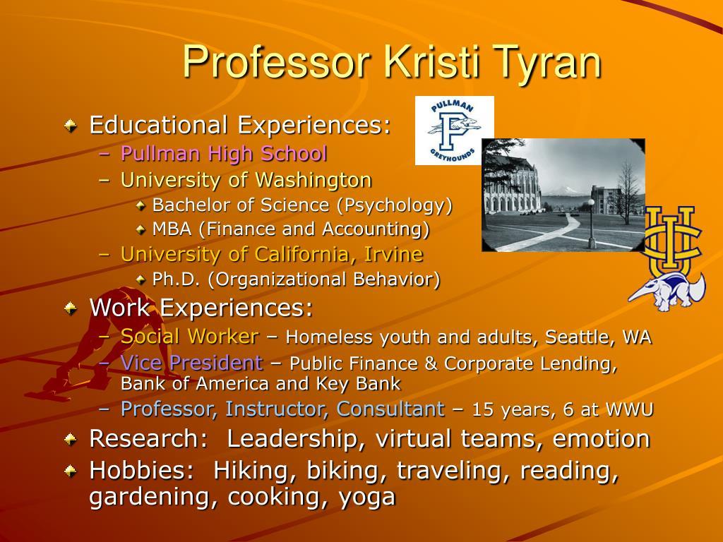 Professor Kristi Tyran