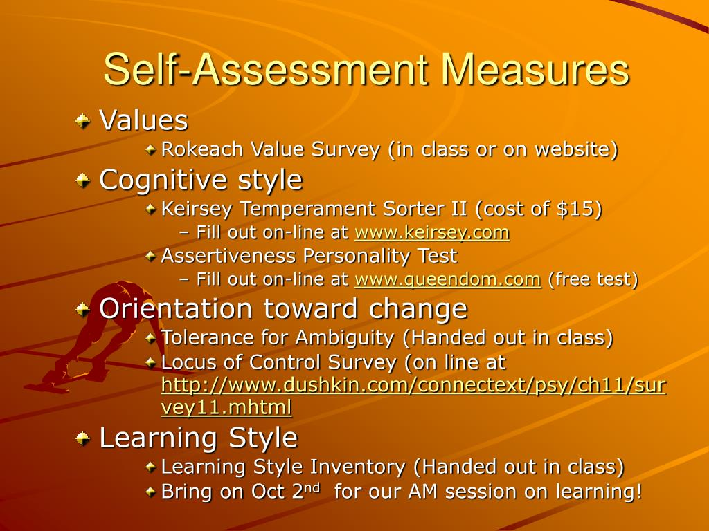 Self-Assessment Measures