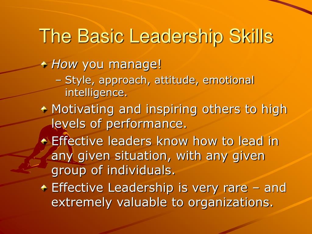 The Basic Leadership Skills