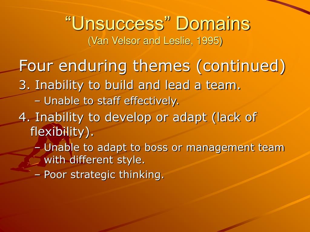 """""""Unsuccess"""" Domains"""