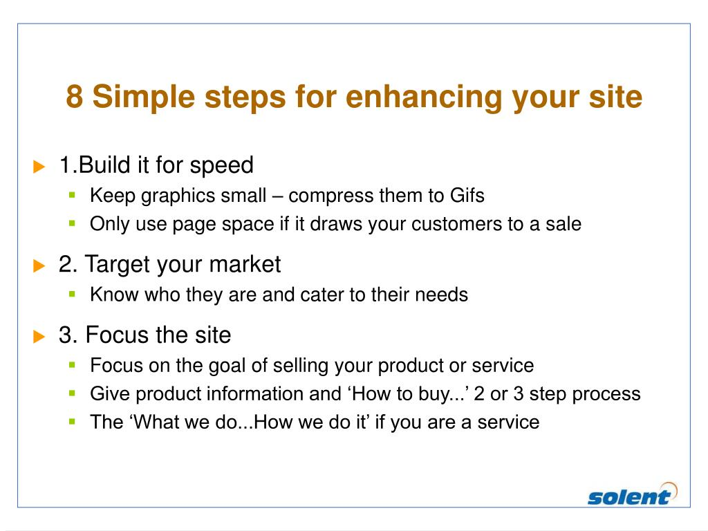8 Simple steps for enhancing your site