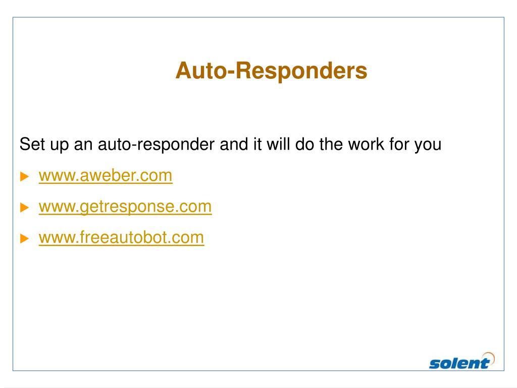 Auto-Responders