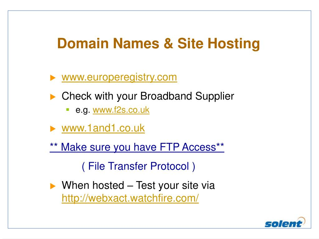 Domain Names & Site Hosting