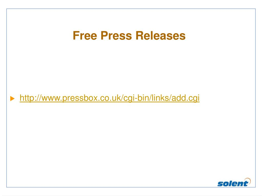 Free Press Releases