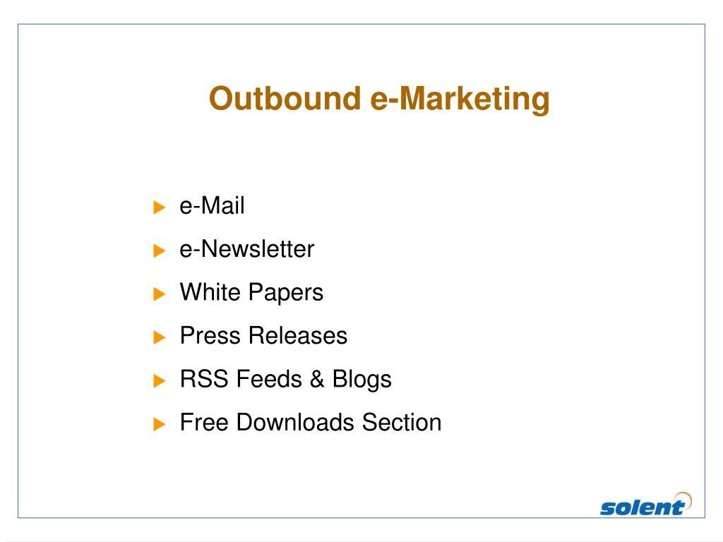 Outbound e-Marketing