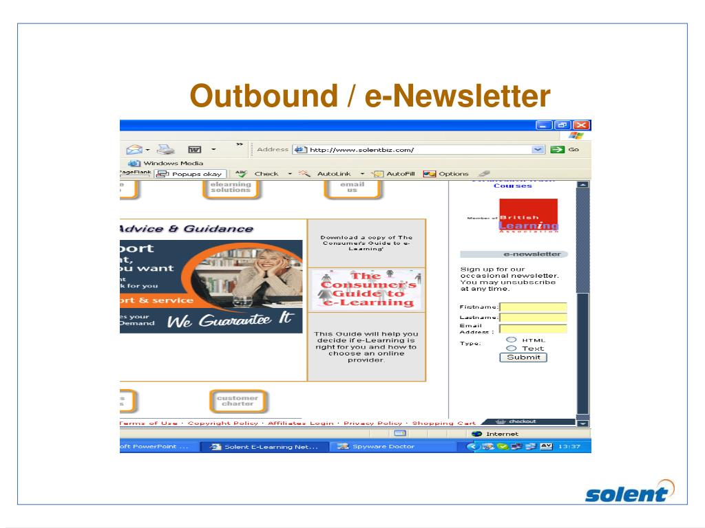 Outbound / e-Newsletter