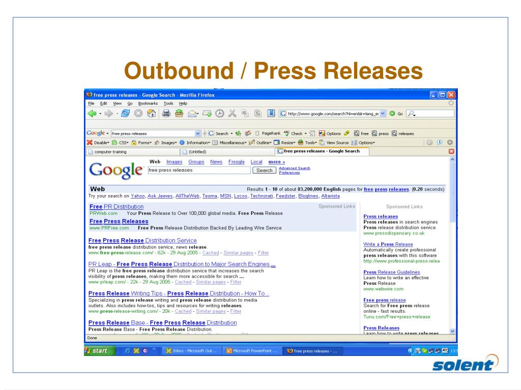 Outbound / Press Releases