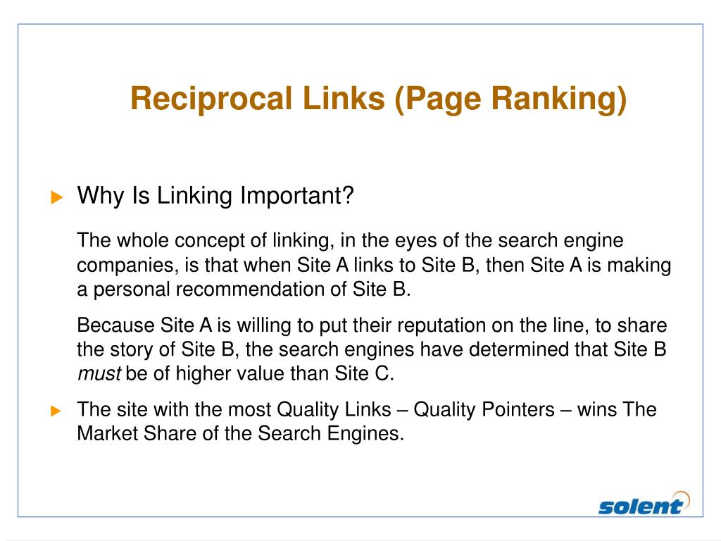 Reciprocal Links (Page Ranking)