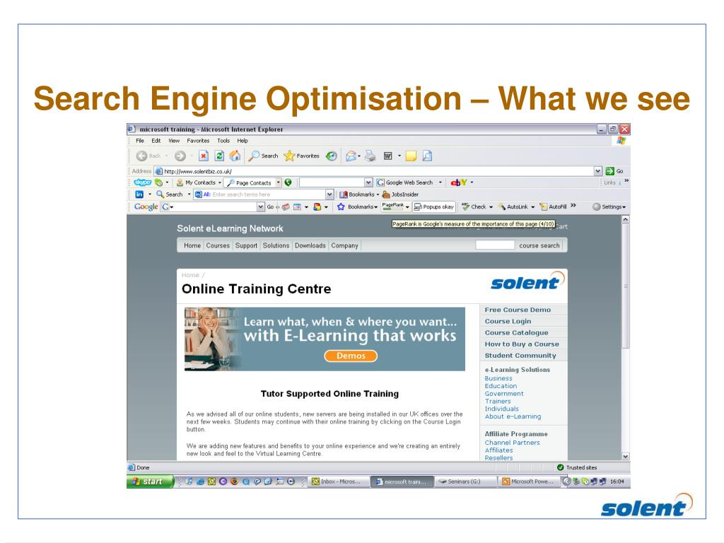 Search Engine Optimisation – What we see