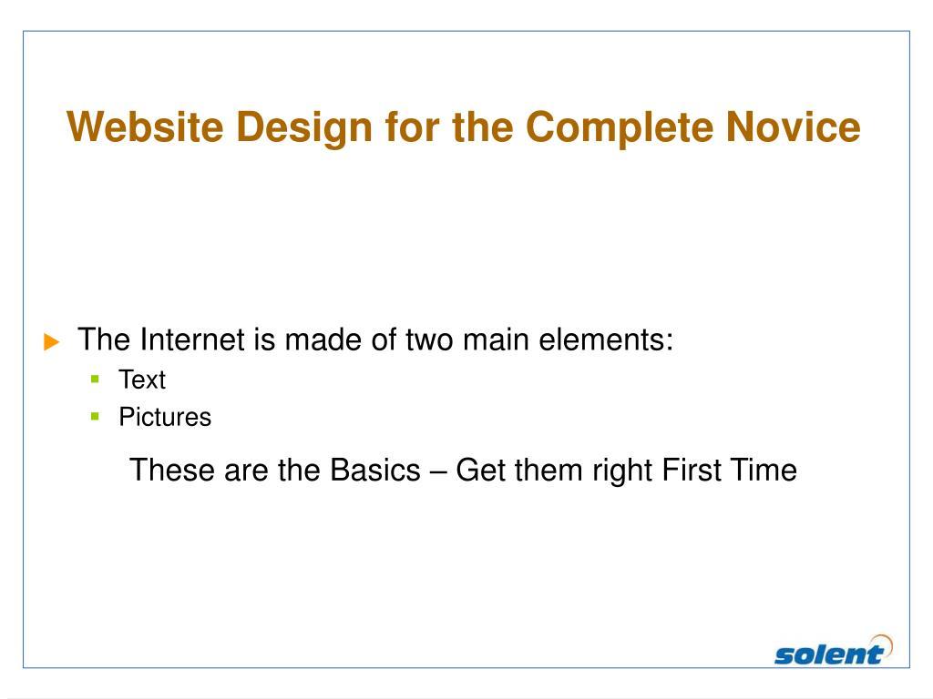 Website Design for the Complete Novice