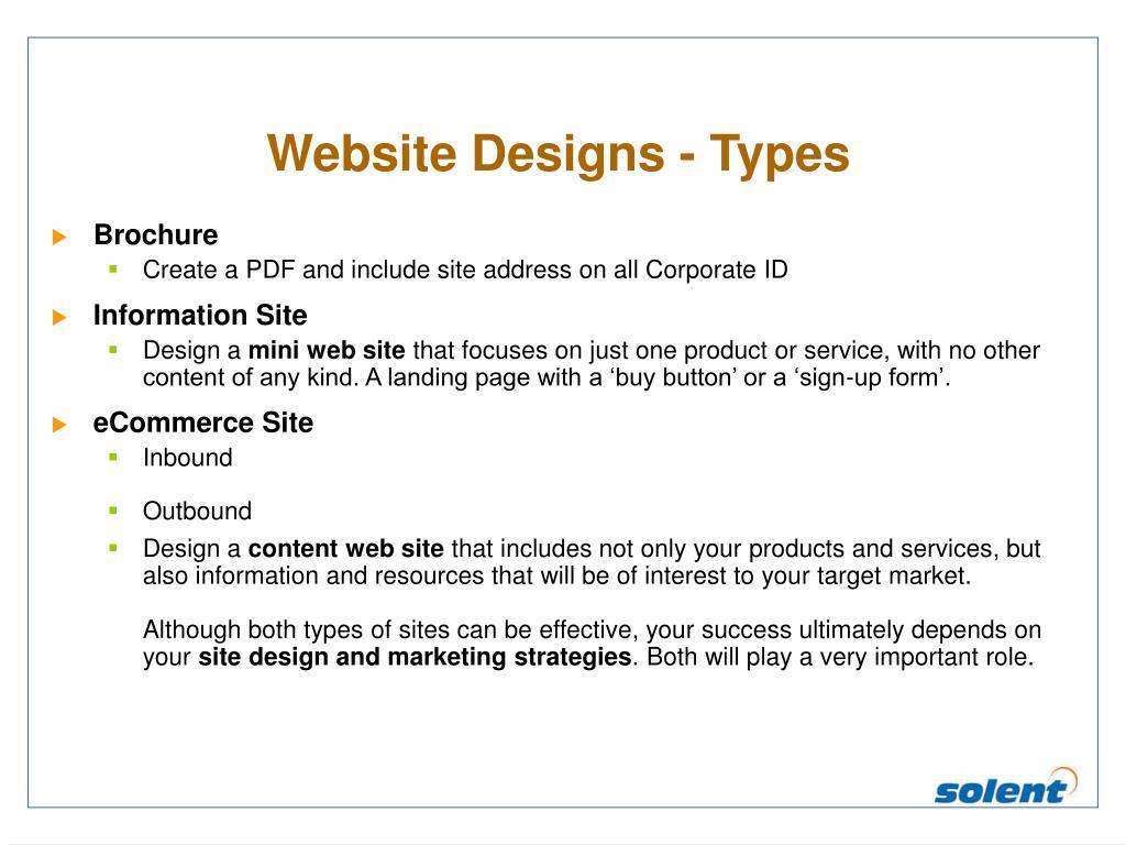 Website Designs - Types