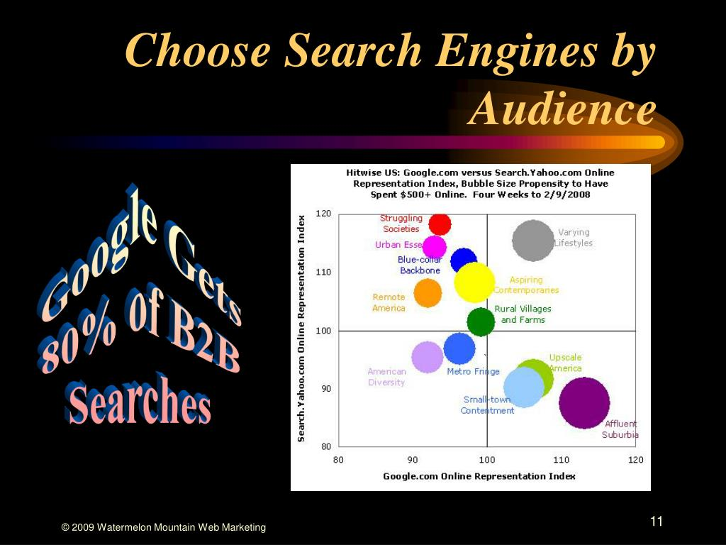 Choose Search Engines by Audience