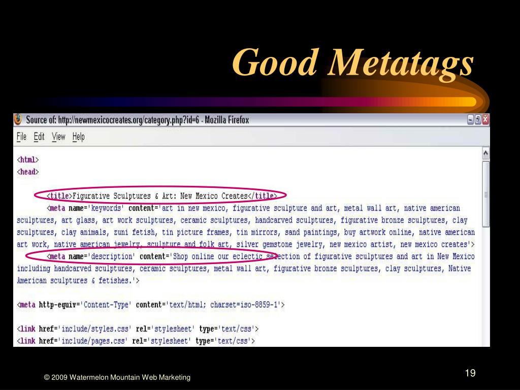 Good Metatags