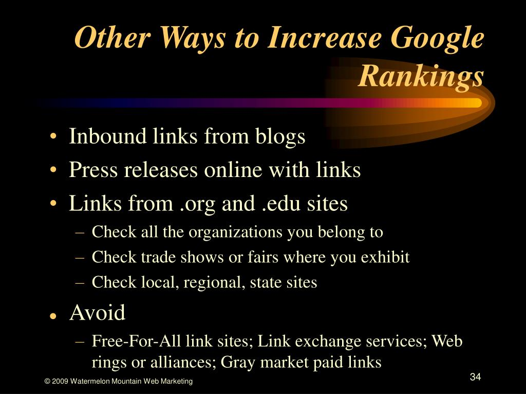 Other Ways to Increase Google Rankings