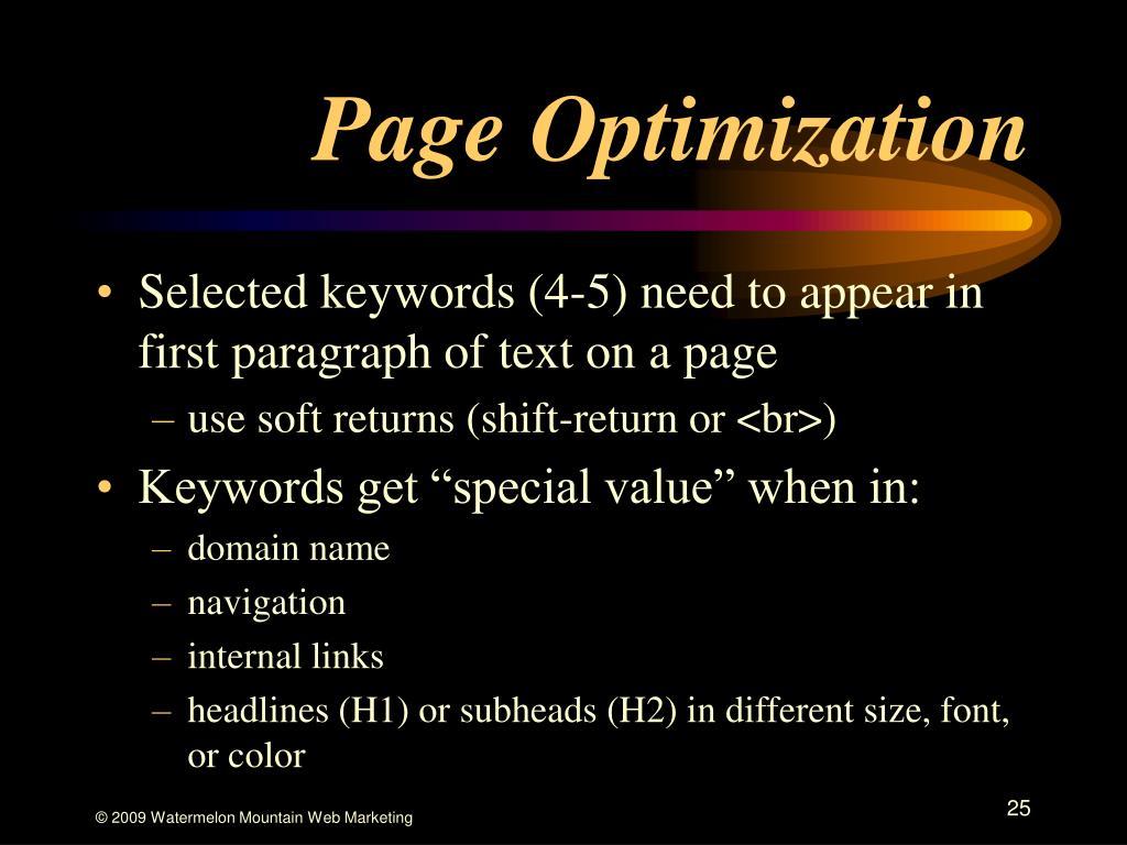 Page Optimization