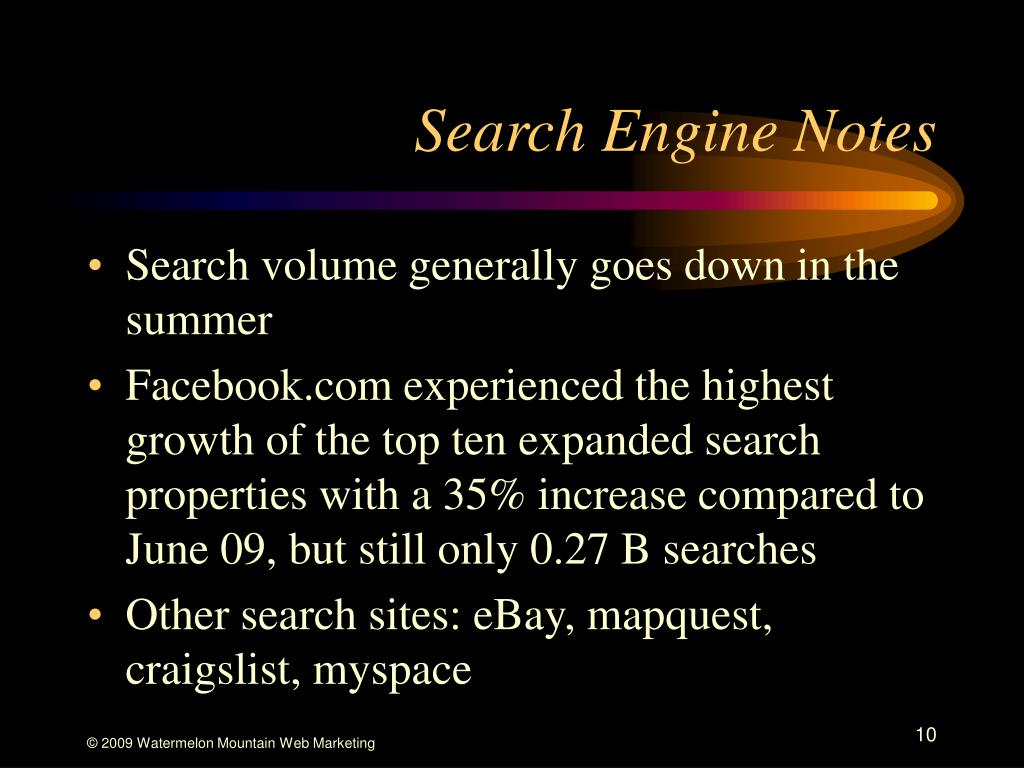 Search Engine Notes