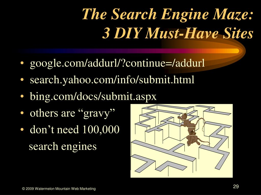 The Search Engine Maze:
