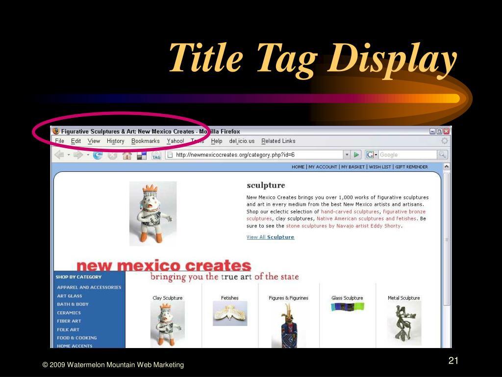 Title Tag Display