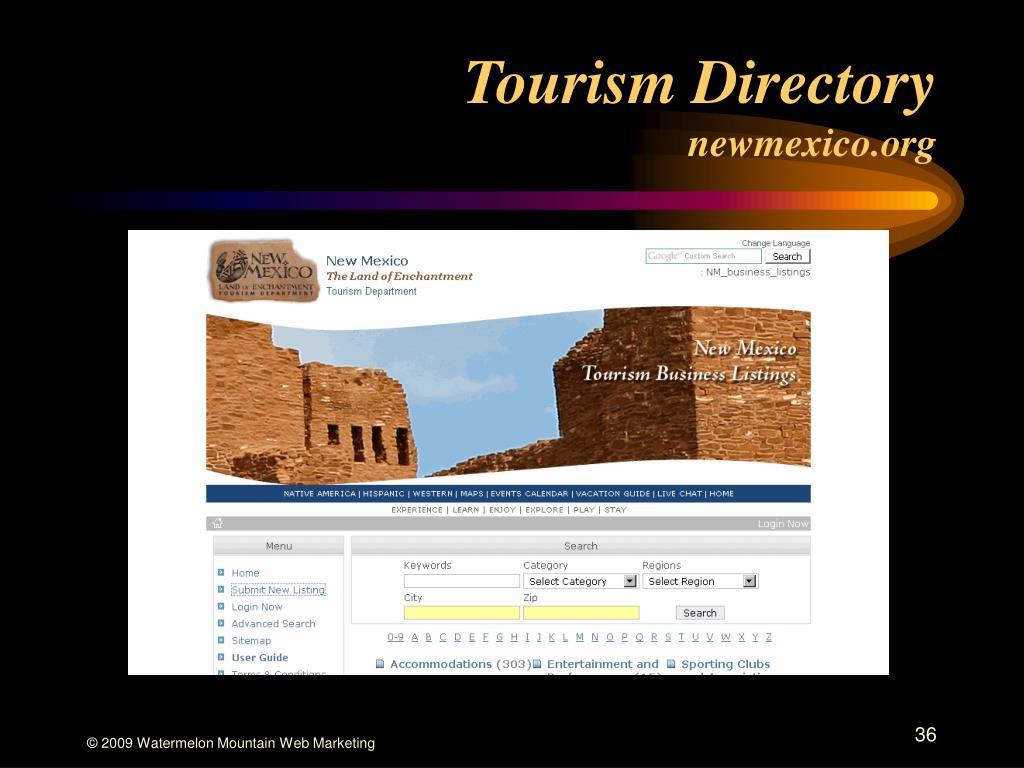 Tourism Directory