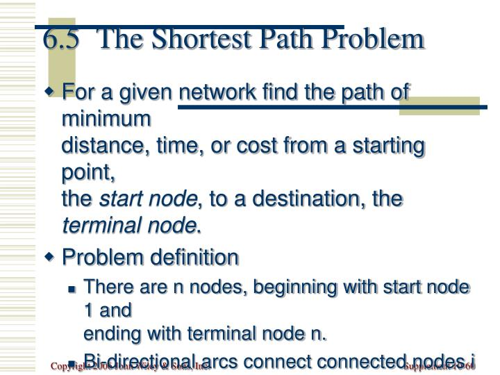 6.5  The Shortest Path Problem