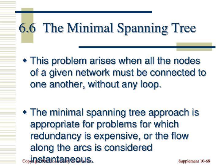 6.6  The Minimal Spanning Tree