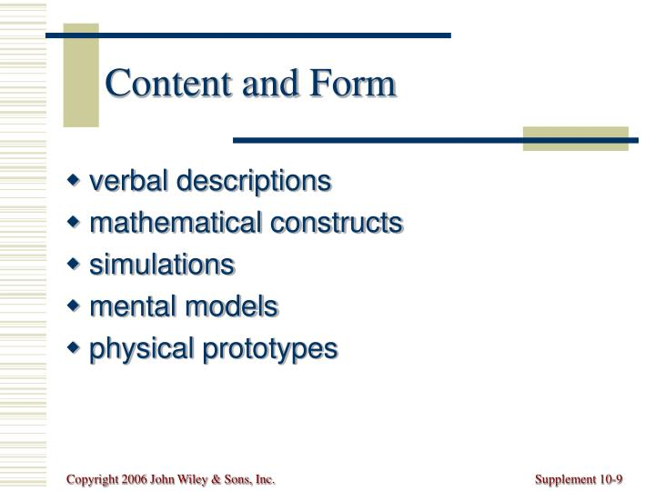 Content and Form