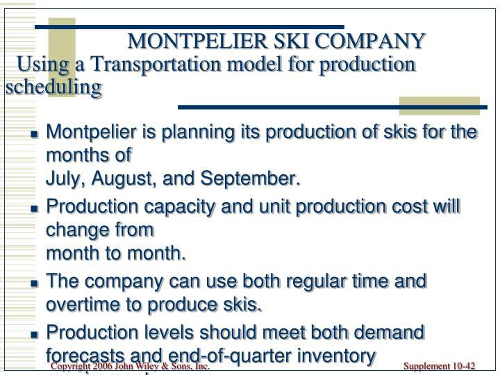 MONTPELIER SKI COMPANY