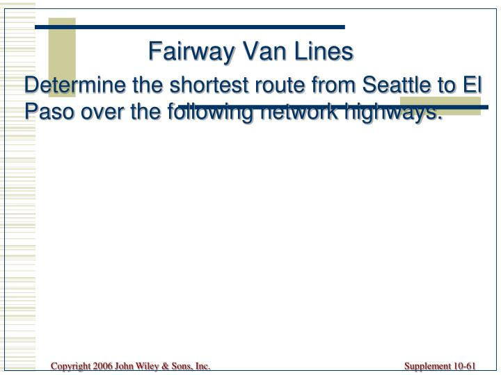 Fairway Van Lines
