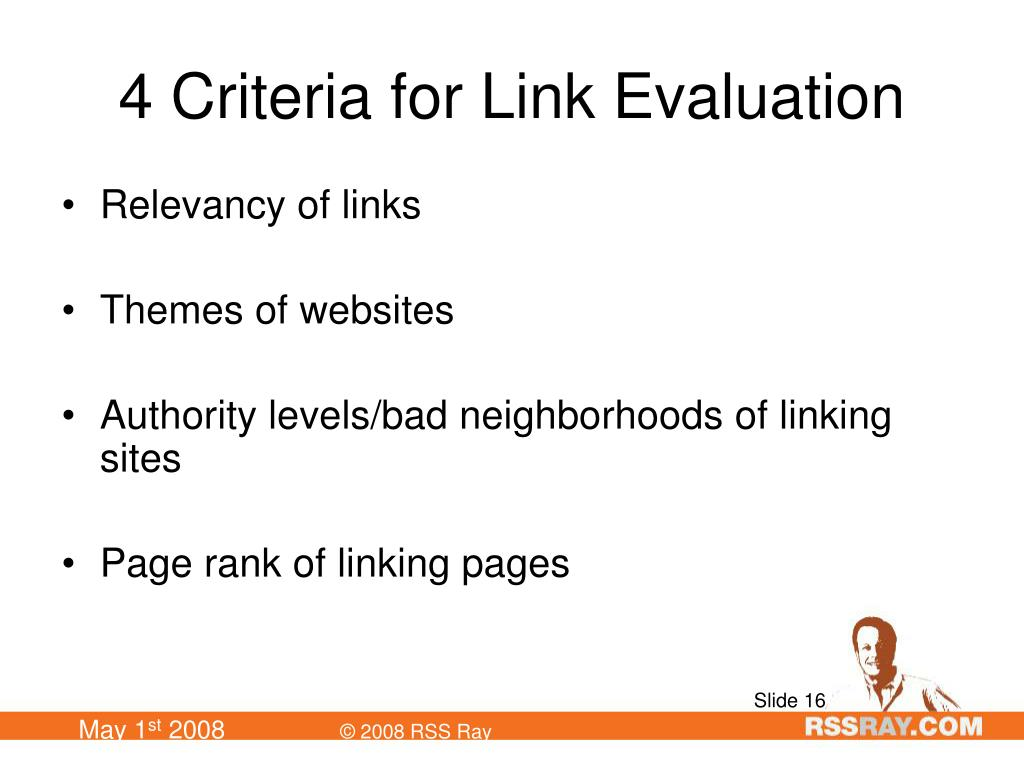 4 Criteria for Link Evaluation
