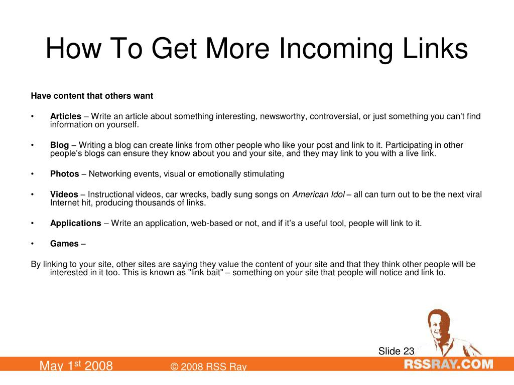 How To Get More Incoming Links