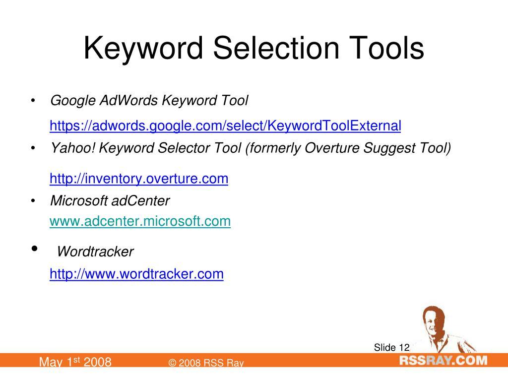 Keyword Selection Tools